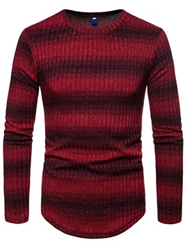 Color Block Long Sleeve Men's Pullover Sweater