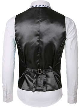 Floral Color Block Single-Breasted Men's Waistcoat