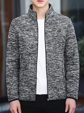 Pocket Color Block Cardigan Slim Men's Jacket