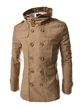 Beautiful Solid Long Sleeve Men Coat