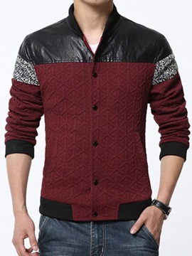 Men's Stylish Fashion Printed Trim Fitted Jacket