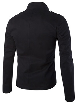 Single-Breasted Front Pockets Men's Jacket