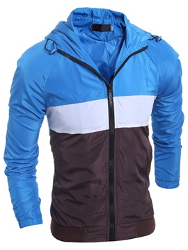 Color Block Men's Thin Jacket