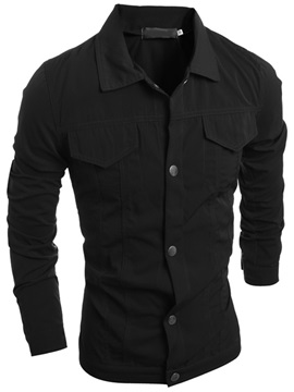 Single-Breasted Chest Pocket Men's Jacket
