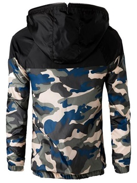 Camouflage Zipper Hooded Men's Casual Jacket