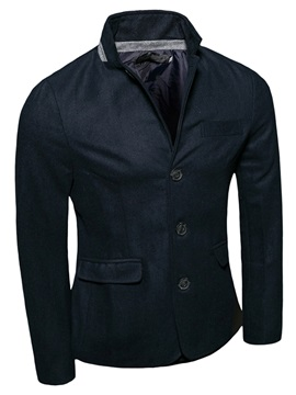 Stand Collar Single-Breasted Men's Casual Jacket