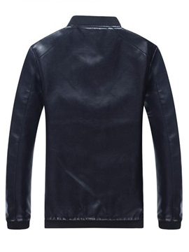 Stand Collar Casual Men's PU Jacket