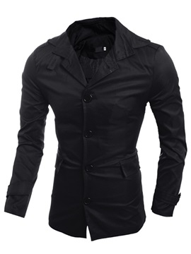 Vogue Single-Breasted Men's Causal Coat