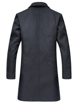 Lapel Long Pattern Men's Casual Trench Coat