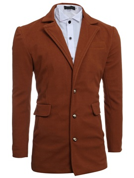 Single-Breasted Notched Collar Men's Causal Blazer