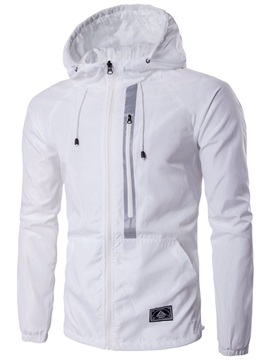 Zip Decorated Casual Men's Hooded Jacket