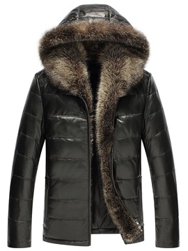 Hooded Shearling Zipper Men