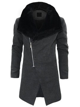 Fleece Zipper Fashion Men's Warm Winter Coat