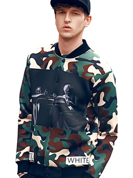 Vogue Print Camouflage Men's Casual Jacket