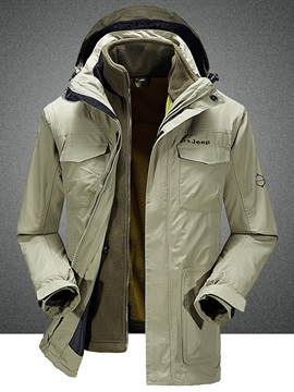 Hooded Zipper Men's Outdoor Waterproof Layered Jacket