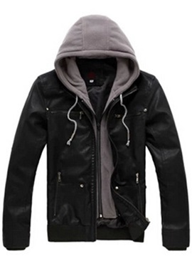 Hooded Patchwork Slim Men