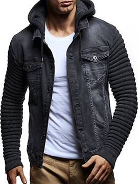 Tidebuy Hooded Patchwork Men's Jacket