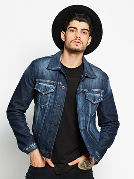 Classical Button Slim Men's Denim Jacket