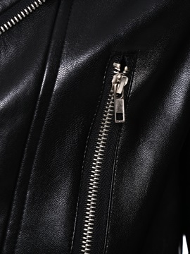 Black Short Slim Men's Leather Jacket