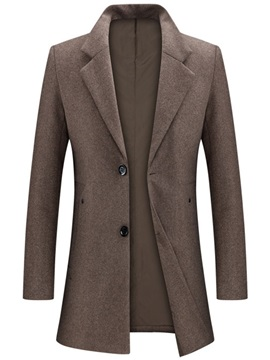 Mid-Length Casual Plain Slim Men's Winter Coat