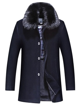 Plain Thicken Warm Casual Men's Winter Coat