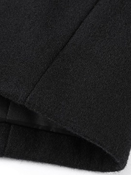 Stand Collar Plain Casual Men's Winter Coat