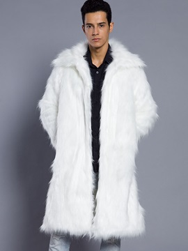 Lapel Long Winter velutinous Men's Coat