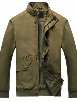 Stand Collar Patchwork Thick Men's Jacket