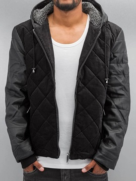 Standard Hooded Zipper Men's Down Jacket