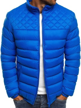 Standard Zipper Plain Stand Collar Casual Men's Down Jacket