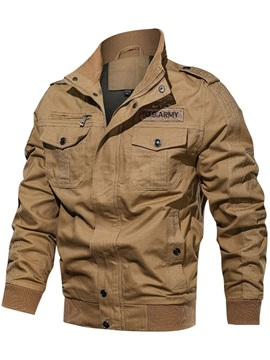 Stand Collar Patchwork Thick Casual Men's Jacket