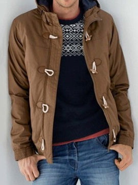 Plain Color Casual Style Men's Down Jacket
