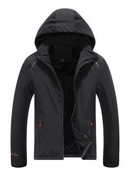 Plain Color Zipper Men's Down Jacket