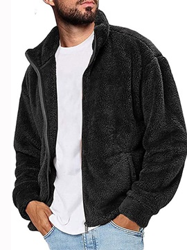 Stand Collar Plain Winter Men's Jacket