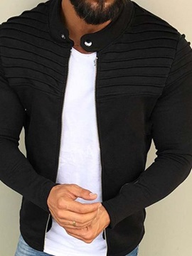 Plain Stand Collar European Men's Jacket