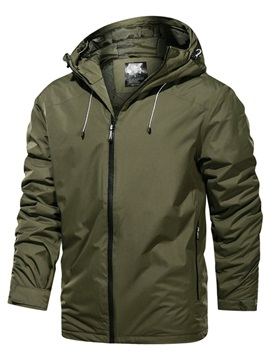 Plain Hooded Loose Men's Jacket