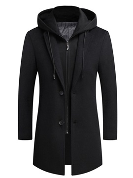Double-Layer Mid-Length Slim Men's Coat