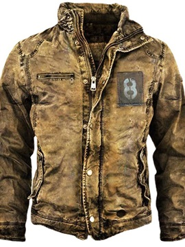Stand Collar Number Fall Men's Jacket