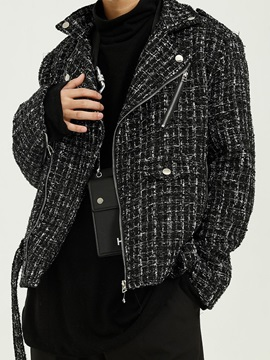 Plaid Lapel Fall Men's Jacket