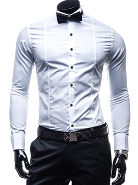 Striped Lapel Long Sleeve Men's Casual Shirt