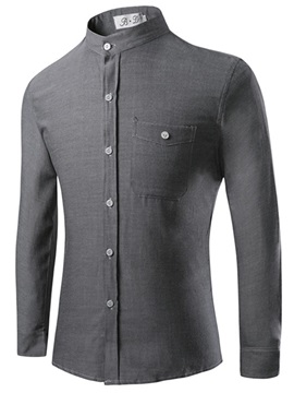 Stand Collar Fashion Slim Men's Shirt