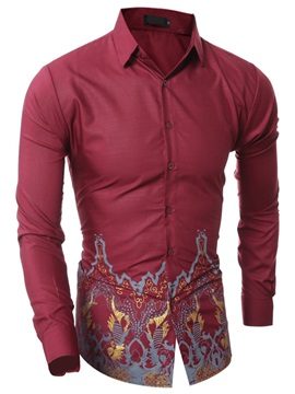 Vogue Floral Print Men's Slim Shirt
