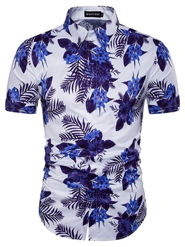 Flower Chinese Style Slim Men's Shirt