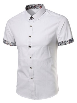 Plain Vogue Short Casual Slim Fit Men's Shirt