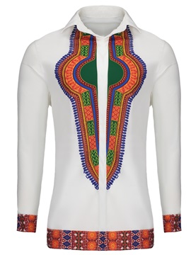 Tidebuy Lapel African Style Dashiki Men's Shirt
