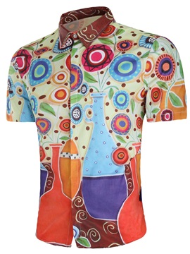 Tidebuy Geometric Pattern Men's Short Sleeve Shirt
