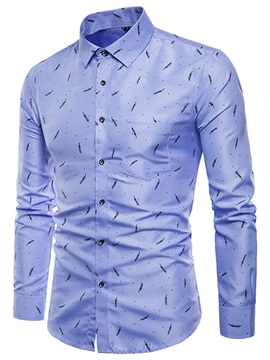 Tidebuy Leaf Print Simple Style Men's Casual Shirt