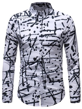 Tidebuy Long Sleeve Unique Print Men's Casual Shirt