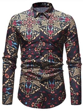 Tidebuy Geometric Print Fashion Men's Shirt