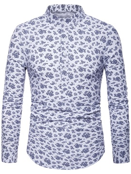 Unique Print Long Sleeve Men's Casual Shirt